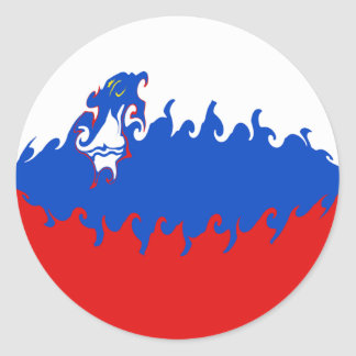 Slovenia Gnarly Flag Round Stickers