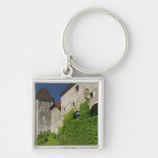 SLOVENIA, Ljubljana: Castle Hill / Ljubljana Silver-Colored Square Key Ring