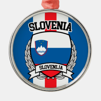 Slovenia Metal Ornament