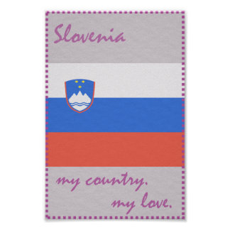 Slovenia My Country My Love Poster