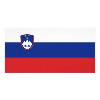 Slovenia National Flag Photo Card