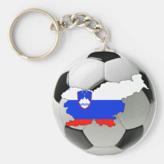Slovenia national team basic round button key ring