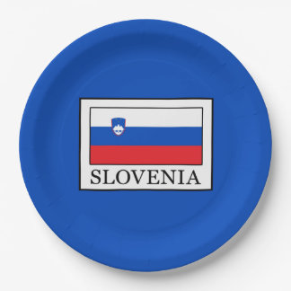 Slovenia Paper Plate
