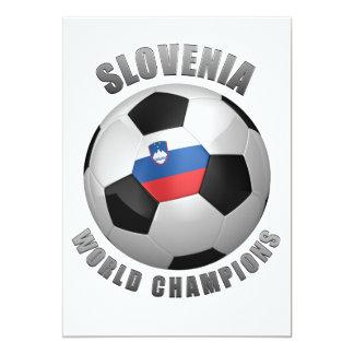 SLOVENIA SOCCER CHAMPIONS 13 CM X 18 CM INVITATION CARD