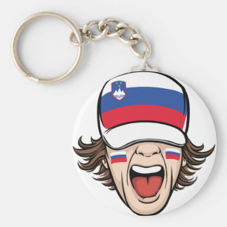 Slovenia Sports Fan Basic Round Button Key Ring