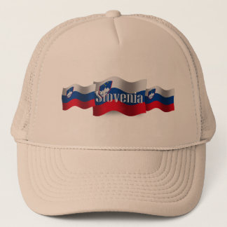 Slovenia Waving Flag Trucker Hat