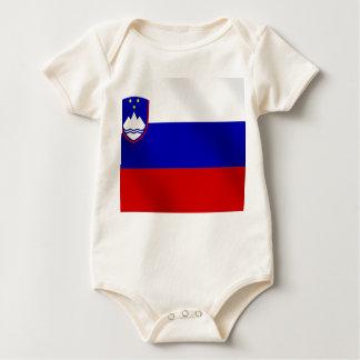 slovenian flag of Slovenia for Slovene speakers Baby Bodysuit