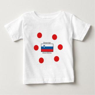 Slovenian Language And Slovenia Flag Design Baby T-Shirt