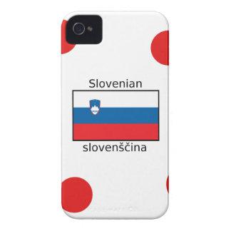 Slovenian Language And Slovenia Flag Design Case-Mate iPhone 4 Cases