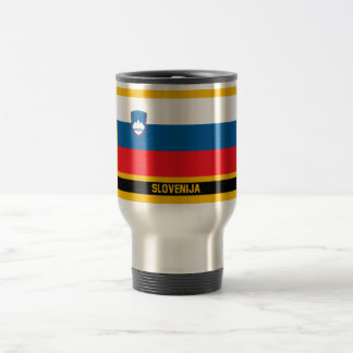 Slovenija Flag Travel Mug