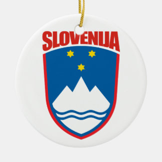 Slovenija (Slovenia) Ceramic Ornament