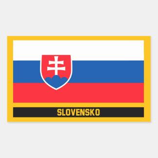 Slovensko Flag Rectangular Sticker
