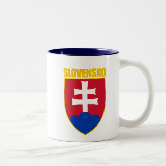 Slovensko/Slovakia COA Two-Tone Coffee Mug