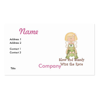Slow and Steady Wins Race Double-Sided Standard Business Cards (Pack Of 100)