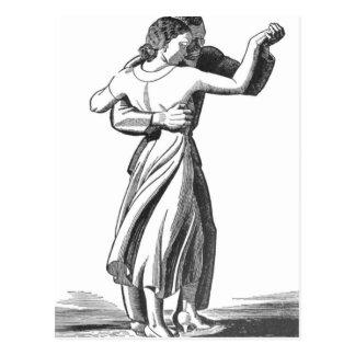 Slow Dancing Couple Postcard