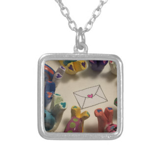 Slow Down Snails Silver Plated Necklace