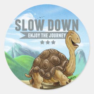 Slow Down Sticker