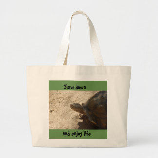 Slow down turtle tote