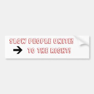 Slow Driver Bumper Sticker