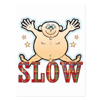 Slow Fat Man Postcard