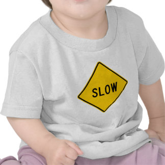 Slow Highway Sign T-shirts