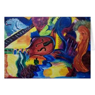 Slow Jazz Original Art Greeting Card