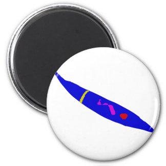 Slow Move Blue Chili 6 Cm Round Magnet