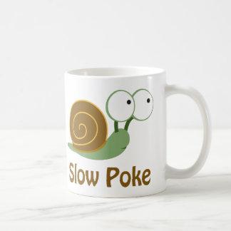 Slow Poke - Green and Brown Snail Coffee Mug