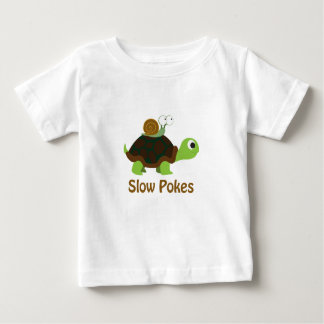 Slow Pokes Cute Turtle and Snail Baby T-Shirt