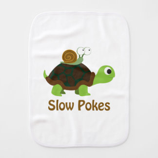 Slow Pokes Cute Turtle and Snail Burp Cloth