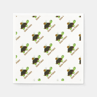 Slow Pokes Cute Turtle and Snail Paper Napkin
