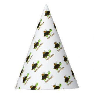 Slow Pokes Cute Turtle and Snail Party Hat