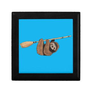 Slow Ride - Sloth on Flying Broom Gift Box