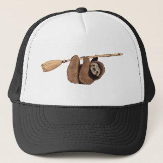 Slow Ride - Sloth on Flying Broom Trucker Hat
