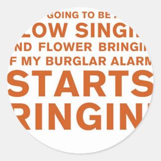 Slow Singin' Round Stickers