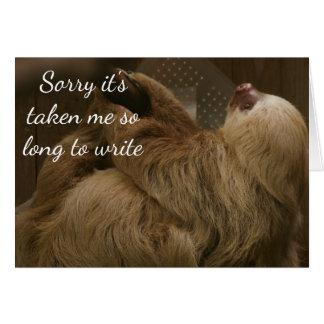 Slow Sloth Greeting Card
