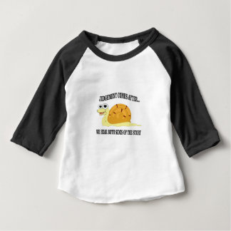 slow to judgement baby T-Shirt