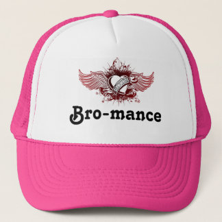 Slow-White logo, Bro-mance Trucker Hat