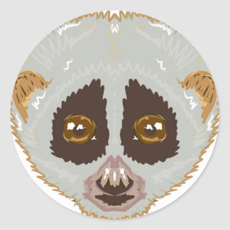SlowLorisSketchL Classic Round Sticker