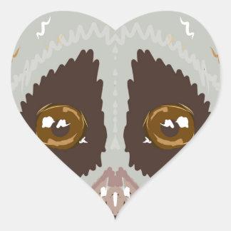 SlowLorisSketchL Heart Sticker