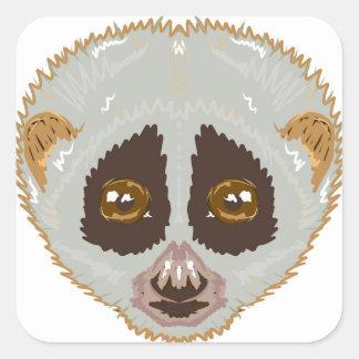 SlowLorisSketchL Square Sticker
