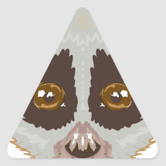 SlowLorisSketchL Triangle Sticker