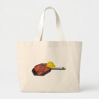 SlowSignPoleConstructionHat051913.png Canvas Bags