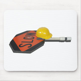 SlowSignPoleConstructionHat051913.png Mouse Pad