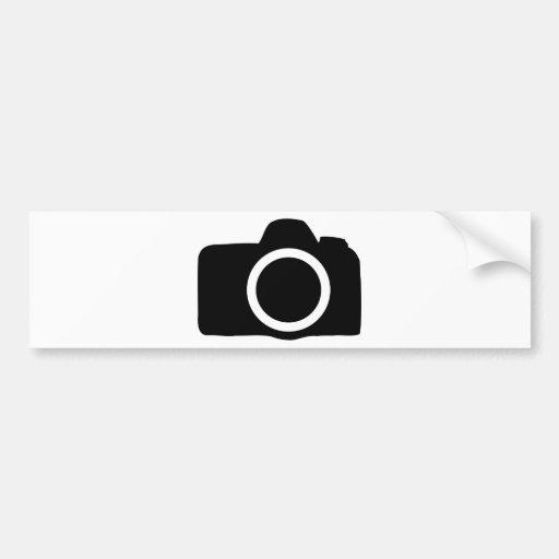SLR Camera icon Bumper Stickers