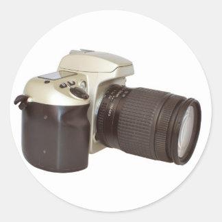 SLR Camera Round Sticker