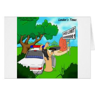 Slug Traffic Cop Funny Card