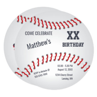 Sluggers  Baseball Home-run Birthday Party Card