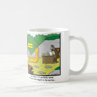 Sluggish in the morning coffee mug