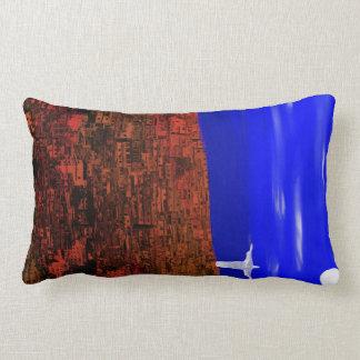 Slum - Matheus Digital Painting Lumbar Pillow